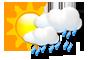 Intervals nuvolosos amb pluja
