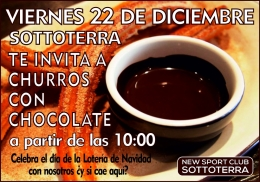 Sport Club Sottoterra te invita a churros con chocolate