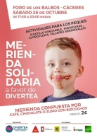 MERIENDA SOLIDARIA A FAVOR DE DIVERTEA.