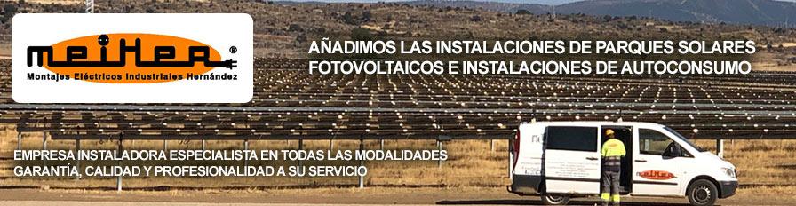 Meiher - Montajes eléctricos, Placas Solares