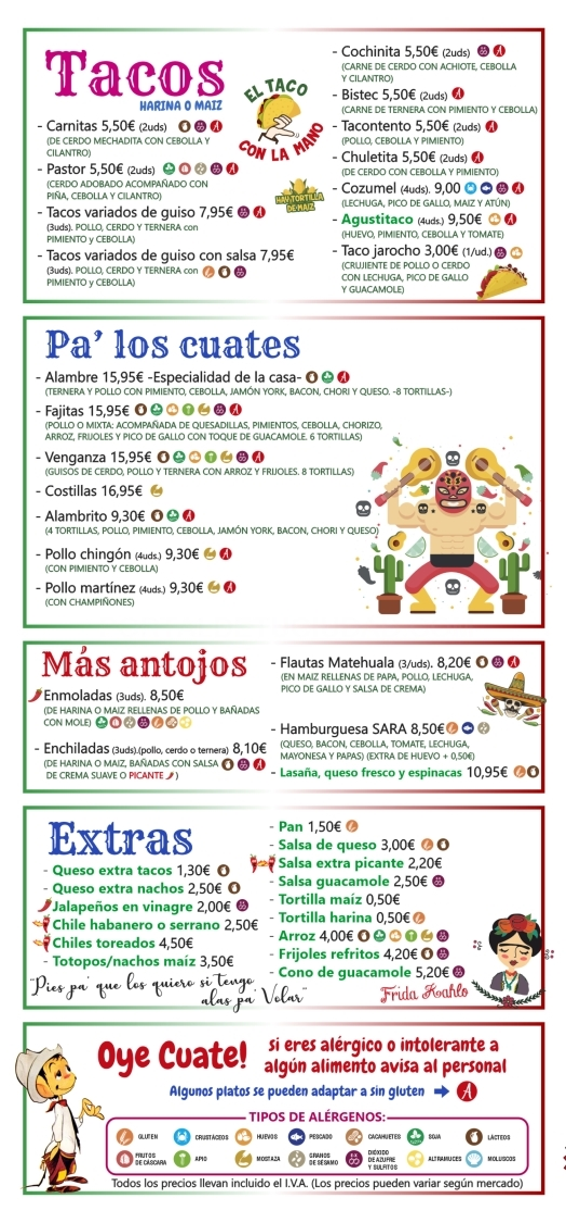 comida mexicana cáceres, restaurantes mexicanos cáceres