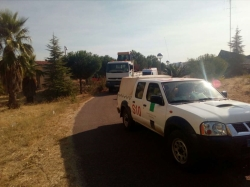 La Junta de Extremadura envía medios técnicos y humanos de apoyo a la zona de los incendios de Castelo Blanco en Portugal
