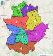 Educación delimita las ocho zonas de listas de espera de personal docente, coincidentes con los distritos educativos.