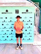 Fernando Bulnes del Club Pacense Sportocio, finalista en el Mutua Madrid Open Sub16 disputado en Murcia