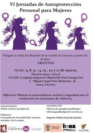 VI Edición de las Jornadas de autoprotección personal para mujeres.