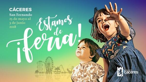 La Feria de San Fernando de Cáceres se celebra desde este viernes y hasta el domingo 3 de junio con dos días del niño.