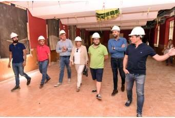 La Presidenta satisfecha del buen ritmo de las obras en La Serrana que se espere concluyan a finales de año.
