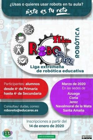 Robo-Reto, una competición de robótica cooperativa y gamificada abierta a todos los centros educativos de Extremadura