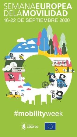 El Ayuntamiento de Cáceres celebrará este año la Semana Europea de la Movilidad de manera virtual, refrendando así su compromiso con la movilidad sost