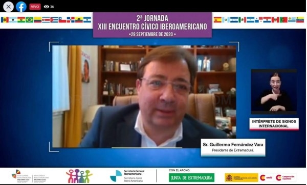 Fernández Vara apela al consenso político y al rigor científico ante la situación de pandemia actual