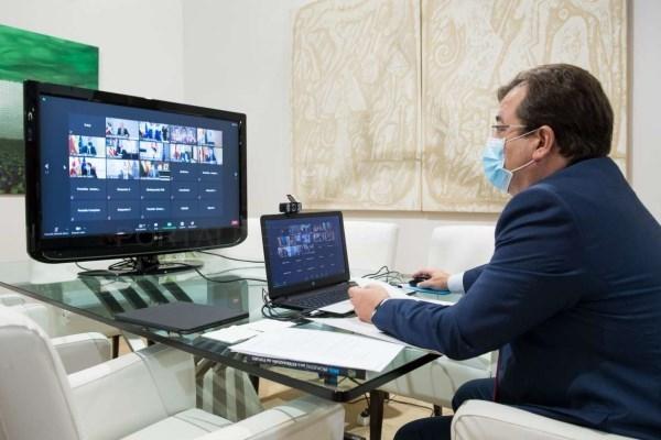 Fernández Vara pide que haya proyectos transfronterizos en los fondos del Plan de Recuperación de la UE