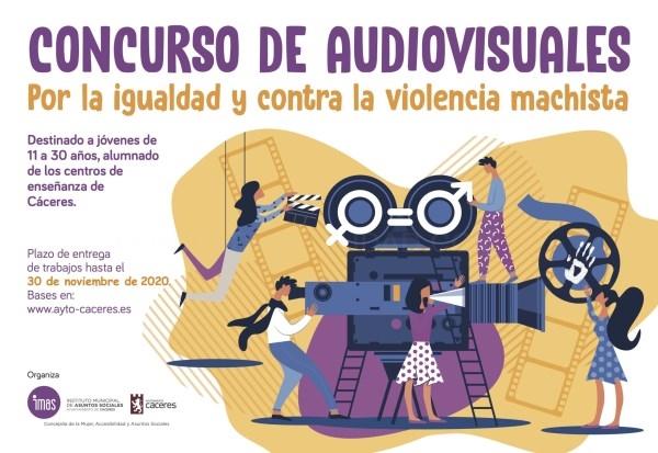 La Concejalía de Mujer y el Instituto Municipal de Asuntos Sociales organizan el concurso de audiovisuales 'Por la igualdad de género y contra la viol