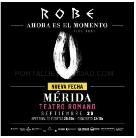 Aplazado el concierto de Robe en Mérida por climatología adversa