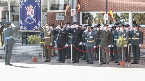 La Guardia Civil de Cáceres homenajea a las víctimas del covid en el día de su patrona
