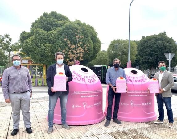 La campaña solidaria 'Recicla Vidrio por Ellas' recauda fondos para proyectos de prevención del cáncer de mama a través del reciclaje de vidrio