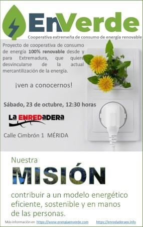 En Verde. Cooperativa extremeña de consumo de energía renovable