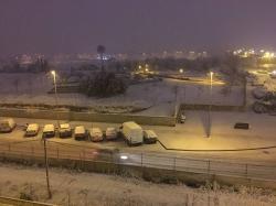 Nieva en Dénia y Xàbia al nivel del mar