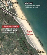Dos ciudades de Valencia enfrentadas por 600 metros de playa