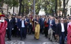 CIVISMO, VALENCIANIA Y REIVINDICACION DE LA UNIDAD DE ESPANA MARCAN LA PROCESION DEL 9 DOCTUBRE