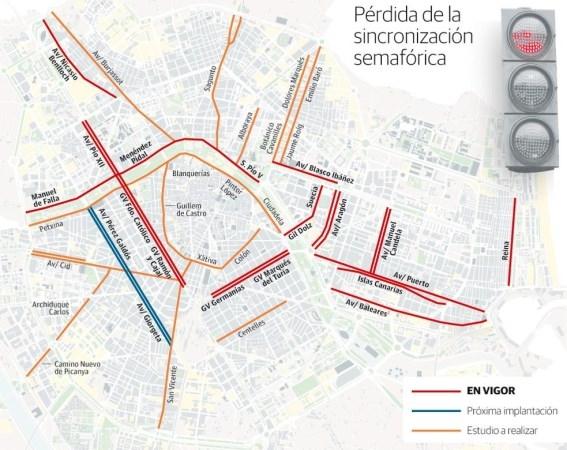 Ribó ya ha ralentizado el tráfico en 17 calles de Valencia y planea hacerlo en 23 más