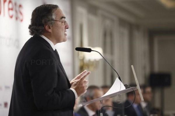 EL PRESIDENTE DE LA PATRONAL ESPAñOLA CEOE, JUAN ROSELL. / EFE/FERNANDO ALVARADO