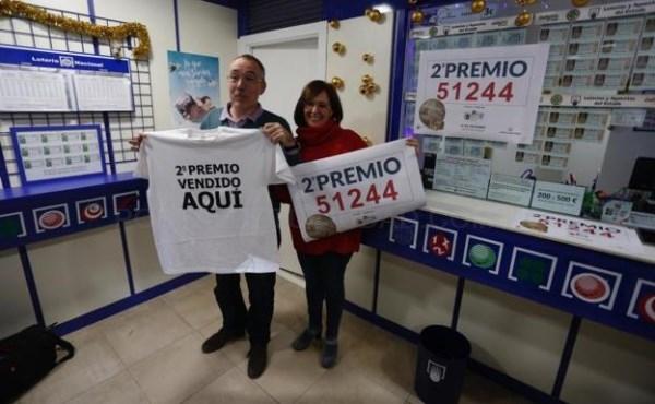 El 51.244, segundo premio de la Lotería de Navidad de 2017, vendido en Catarroja, Oropesa del Mar, Mislata, Carlet y Alaquàs