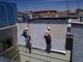 trabajos en patios, trabajos en fachadas