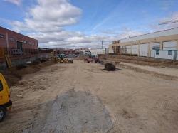 El concejal de Obras visita la ampliación del aparcamiento de la Calle Francia que dotarán de otras 100 plazas más al centenar existententes