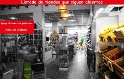 Pequeños comercios abiertos en Palencia.