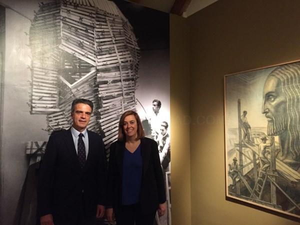 ARMISéN VISITA LA EXPOSICIóN 'VICTORIO MACHO. DE MADRID A AMéRICA' EN LA CASA DE AMéRICA DE MADRID