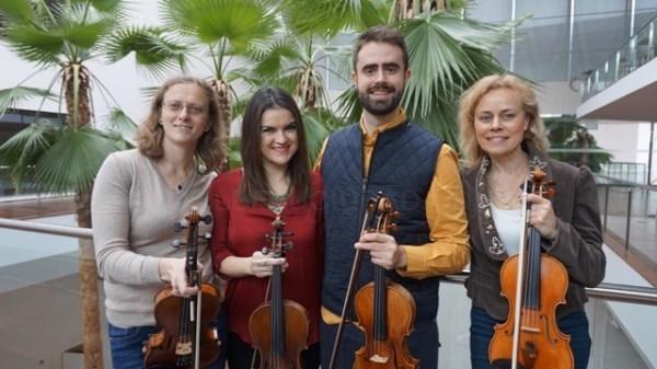 El cuarteto de violines Strings With Wings de la OSCyL estará mañána en el Teatro Principal de Palencia