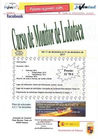 LA CONCEJALíA DE JUVENTUD ORGANIZA UN CURSO DE MONITOR DE LUDOTECA DEL 11 AL 21 DE DICIEMBRE