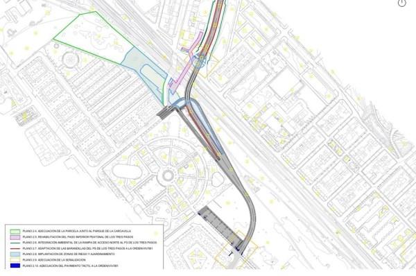 Tragsa iniciará las obras de adecuación urbana y medioambiental del entorno de Los Tres Pasos el lunes 25 de marzo