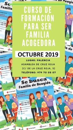 CRUZ ROJA PALENCIA PROGRAMA UN NUEVO CURSO PARA PREPARAR A PERSONAS INTERESADAS EN CONVERTIRSE EN FAMILIA DE ACOGIDA