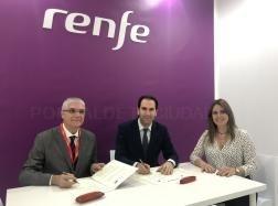 Alcalde y presidente de RENFE suscriben la prórroga del convenio de colaboración para la promoción turística de la ciudad durante un año más
