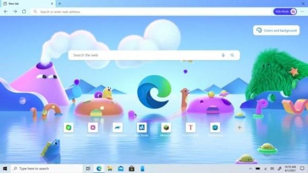 Microsoft Edge modo niños