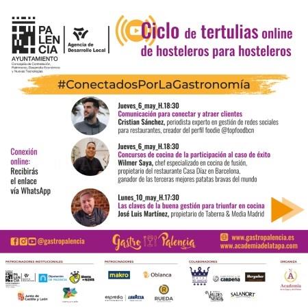 """Formación online de los hosteleros de Castilla y León con una segunda edición de las tertulias """"Conectados por la gastronomía"""""""