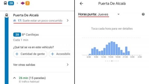 Google Maps te dice como va el transporte público