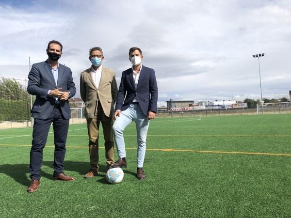 Finalizan las obras del campo de fútbol de San Telmo