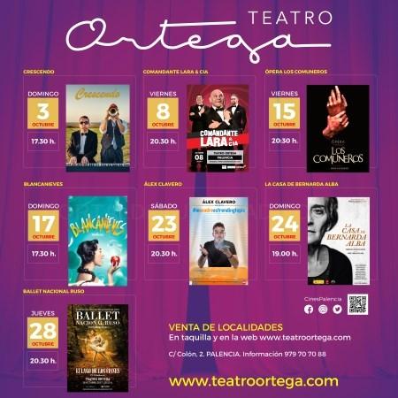 La programación de otoño arranca en el Teatro Ortega con siete espectáculos