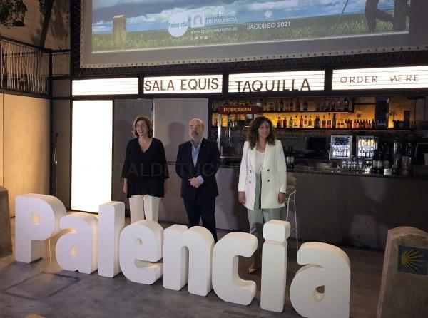 La Diputación de Palencia muestra en Madrid, de la mano del actor Antonio Resines, el atractivo del tramo navegable del Camino de Santiago