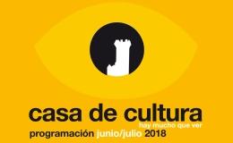 PROGRAMACIóN CULTURAL JUNIO-JULIO 2018