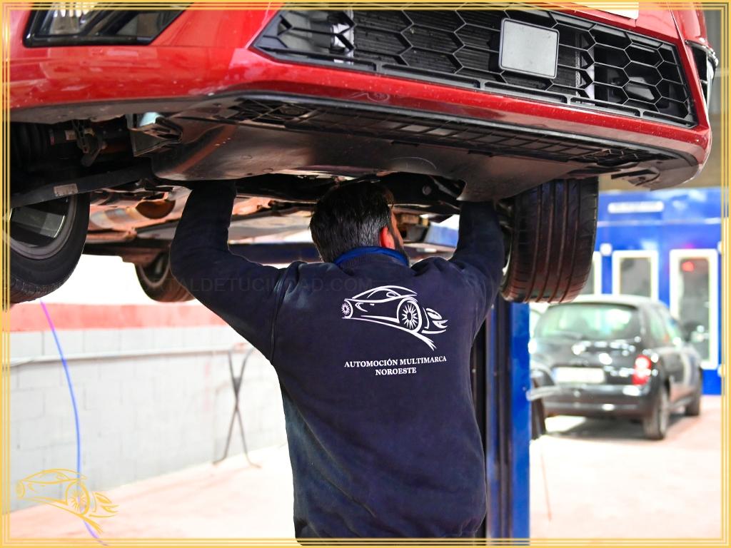 Taller concertado con SegurCaixa en la sierra de Madrid, recogida y entrega de vehículos, pintura