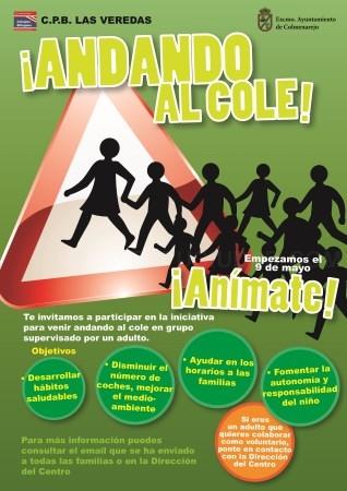 El 9 de mayo se pone en marcha la iniciativa ¡Andando al Cole!