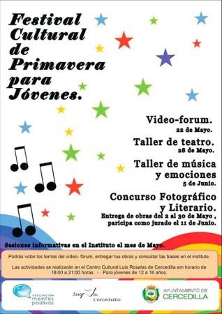 Llega el Festival Cultural de Primavera para Jóvenes