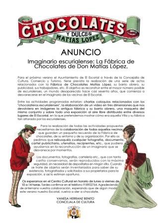 Imaginario escurialense: la Fábrica de chocolates de don Matías López