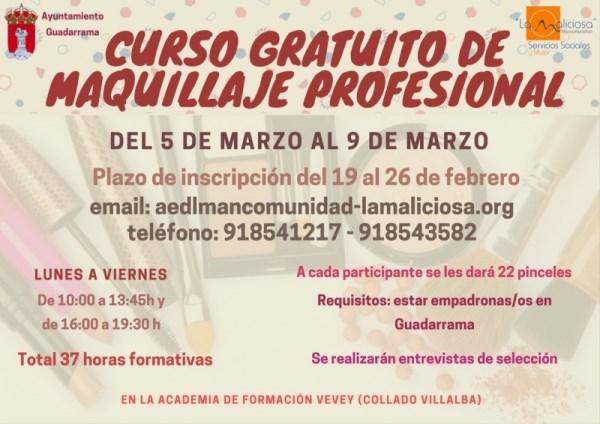 Abierta la solicitud para el curso de Maquillaje Profesional incluido en las propuestas de Servicios Sociales