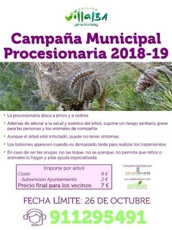 Campaña contra la Procesionaria 2018