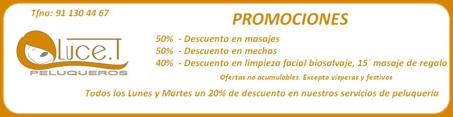 OFERTAS Y PROMOCIONES PELUQUERÍA LUCE.T