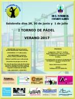 """I TORNEO DE PADEL """"VERANO 2017"""""""